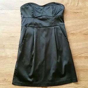 Akira Strapless Black Dress